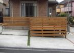 横張りフェンス・駐車場部増設